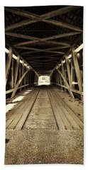 Beach Towel featuring the photograph Nevins Bridge by Joanne Coyle