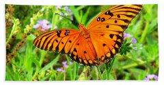 Windows From Heaven Orange Butterfly Beach Towel