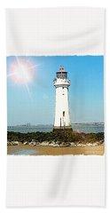 New Brighton Lighthouse Beach Towel