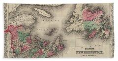 New Brunswick, Nova Scotia, Newfoundland. And Prince Edward Island Beach Towel