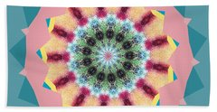 New Color Wheel Beach Towel by Shirley Moravec