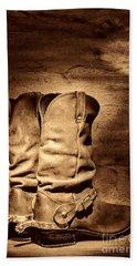 New Cowboy Boots Beach Towel