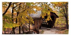 New England College No. 63 Covered Bridge  Beach Towel by Betty Pauwels