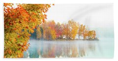New England Fall Colors Of Maine Beach Sheet