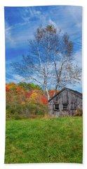 New England Fall Foliage Beach Towel