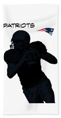 New England Patriots Football Beach Towel by David Dehner