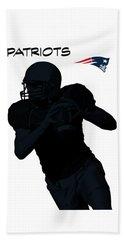 Beach Towel featuring the digital art New England Patriots Football by David Dehner