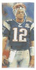 New England Patriots Tom Brady Beach Towel