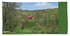 Beach Sheet featuring the photograph New England Spring Pasture by Bill Wakeley