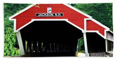 Beach Towel featuring the photograph New Hampshire Covered Bridge by Barbara S Nickerson
