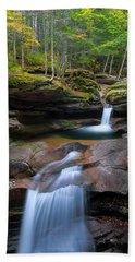 New Hampshire Sabbaday Falls Panorama Beach Towel