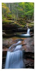 New Hampshire Sabbaday Falls Panorama Beach Sheet by Ranjay Mitra