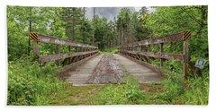 New Hampshire Snowmobile Trail Bridge Beach Towel