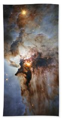 New Hubble View Of The Lagoon Nebula Beach Towel