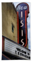 New Isis Theater In Fort Worth Beach Towel