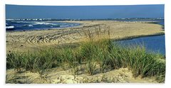 Beach Towel featuring the photograph New Jersey Inlet  by Sally Weigand