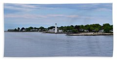 New London Harbor Lighthouse Beach Towel