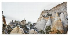 Beach Sheet featuring the photograph New Mexico Tent Rocks Desert Mountain Landscape by Andrea Hazel Ihlefeld