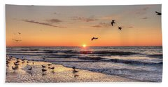 New Moon Birds Beach Towel