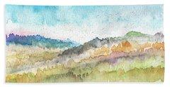 New Morning- Watercolor Art By Linda Woods Beach Towel