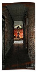 New Orleans Alley Beach Sheet by Joan  Minchak