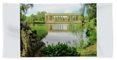 New Orleans City Park Peristyle From Goldfish Island Beach Towel by Deborah Lacoste