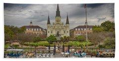 New Orleans Jackson Square Beach Towel