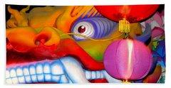 New Orleans Mardi Gras Float Orpheus Lundi Gras Beach Towel by Michael Hoard