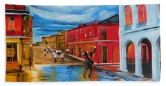 New Orleans Parade Beach Towel