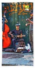 New Orleans Street Musicians Beach Sheet
