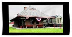 New Oxford Pennsylvania Train Station Beach Sheet