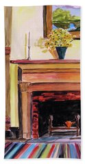 New Painting Over The Mantel Beach Sheet