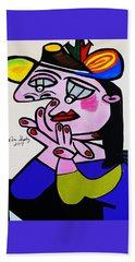 New Picasso  Bug Eye Beach Towel