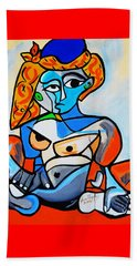 New  Picasso By Nora  Nude Woman With Turkish Bonnet Beach Towel