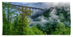 New River Gorge Bridge Morning  Beach Towel