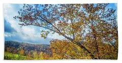 New River In Fall Beach Towel