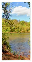 Beach Towel featuring the photograph New River Views - Bisset Park - Radford Virginia by Kerri Farley