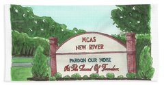 New River Welcome Beach Towel