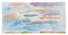 Strawberry Skies Watching Beach Towel by Meryl Goudey