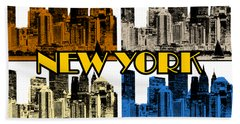 New York 4 Color Beach Towel