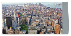 New York Aerial View Beach Towel