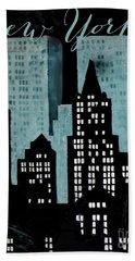 New York Art Deco Beach Towel