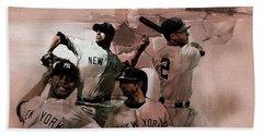New York Baseball  Beach Towel