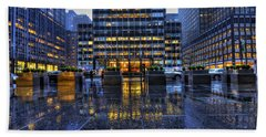 New York Blues Beach Towel