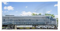 New York Central System Locomotive Vintage 3 Beach Towel