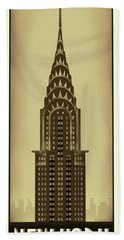 New York Chrysler Building Beach Towel