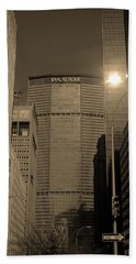 New York City 1982 Sepia Series - #7 Beach Towel