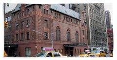 New York City Yellow Cab  - Amsterdam -  West Seventy Sixth Beach Sheet