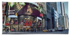 New York City - Broadway And 42nd St Beach Towel by Dyle Warren