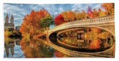 New York City Central Park Bow Bridge Beach Towel